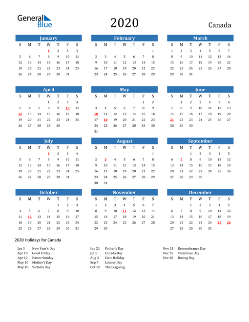 2021 Calendar With Stat Holidays Canada | 2022 Calendar