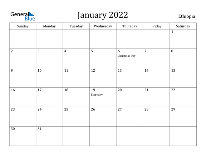 If holidays are more stressful than joyful, your schedule could be at the root of the problem. Ethiopia January 2022 Calendar With Holidays