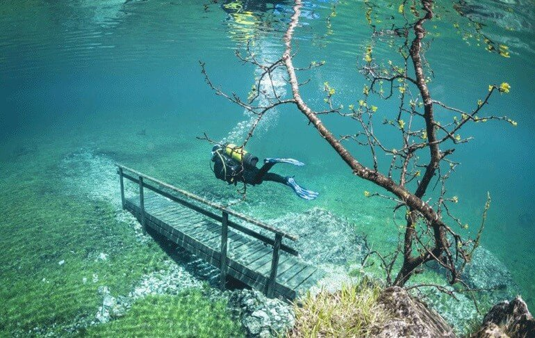 Gruner See, lac vert, Tragoss, Autriche