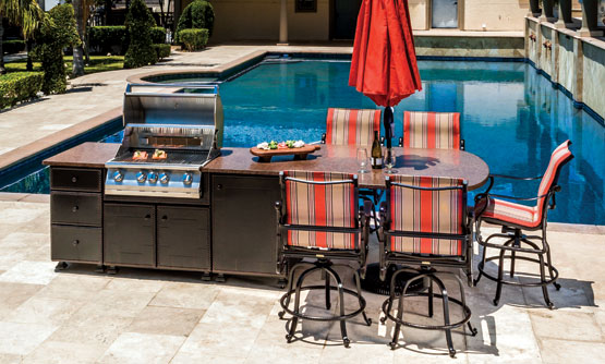 how much does an outdoor kitchen cost kohler single handle faucet repair kitchens gensun paradise predesigned islands
