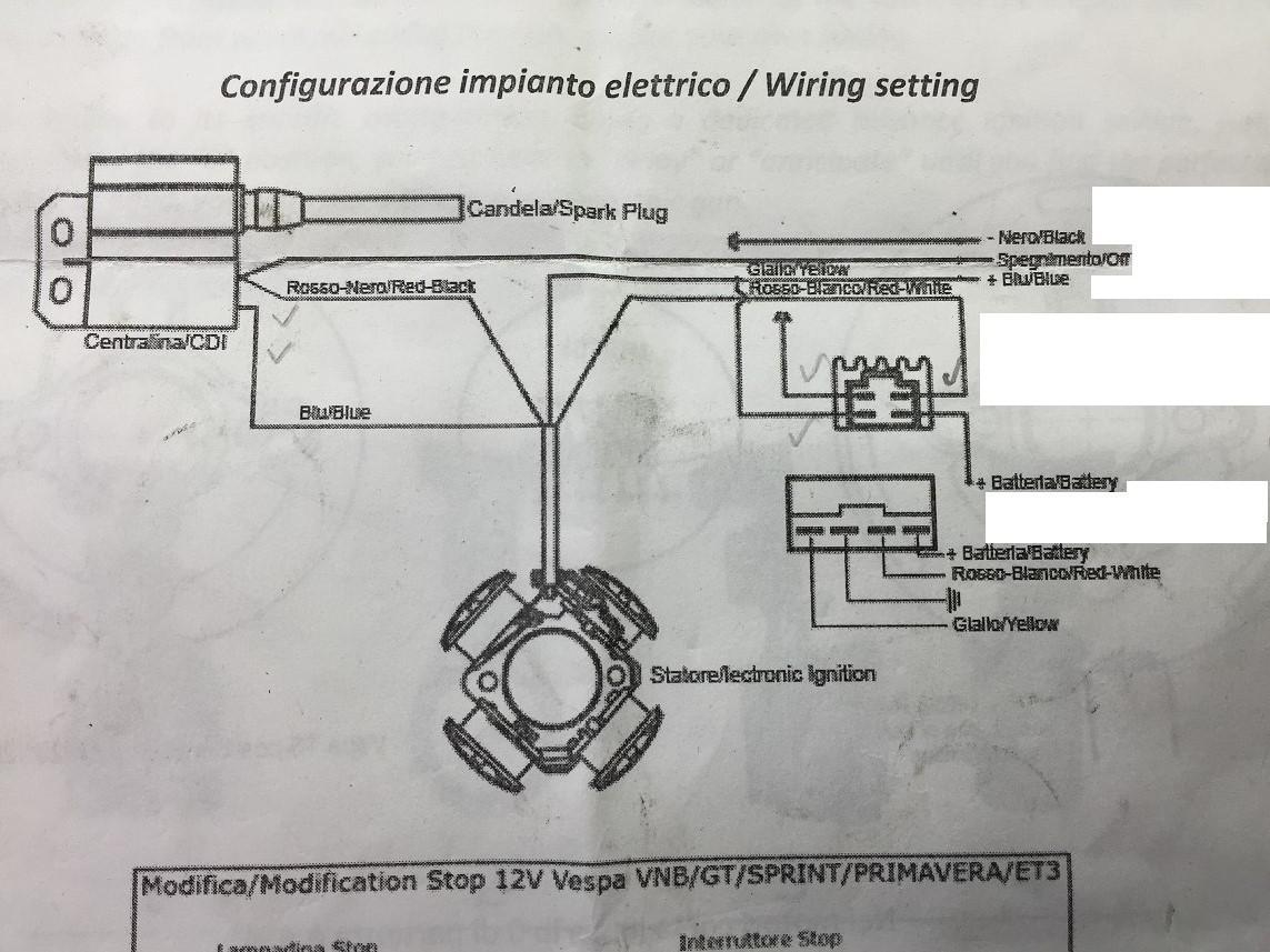 6v 12v Wiring Diagram Vespa Et3