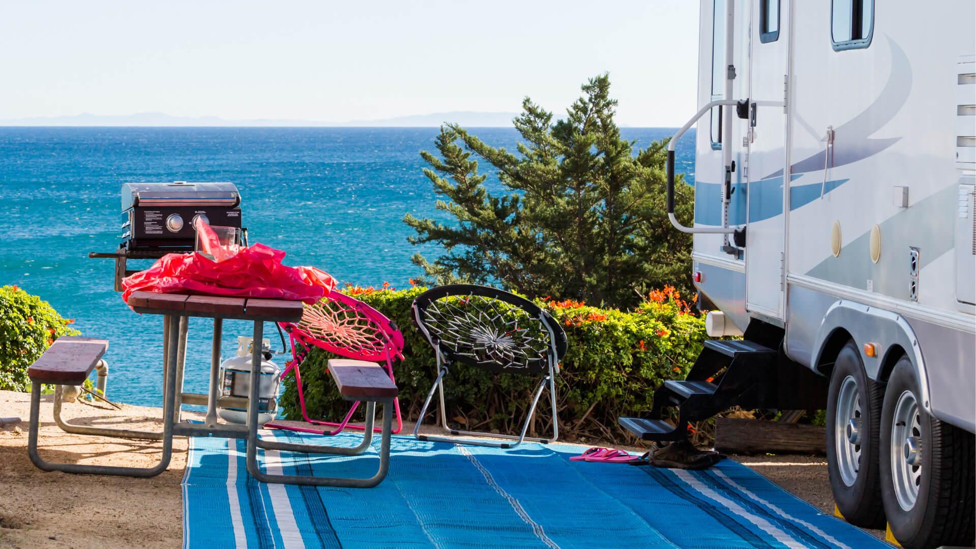 the best rv outdoor mats getaway couple