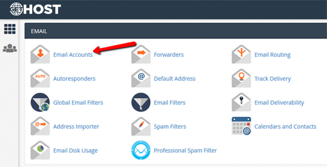 Access the Email Accounts Interface in cPanel