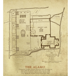 diagram of the alamo wiring diagram data val a j houston s alamo plaza map copano bay press [ 777 x 1024 Pixel ]