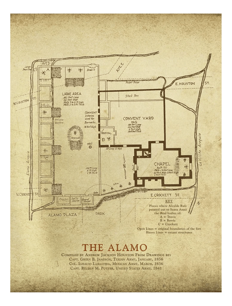 hight resolution of diagram of the alamo wiring diagram data val a j houston s alamo plaza map copano bay press