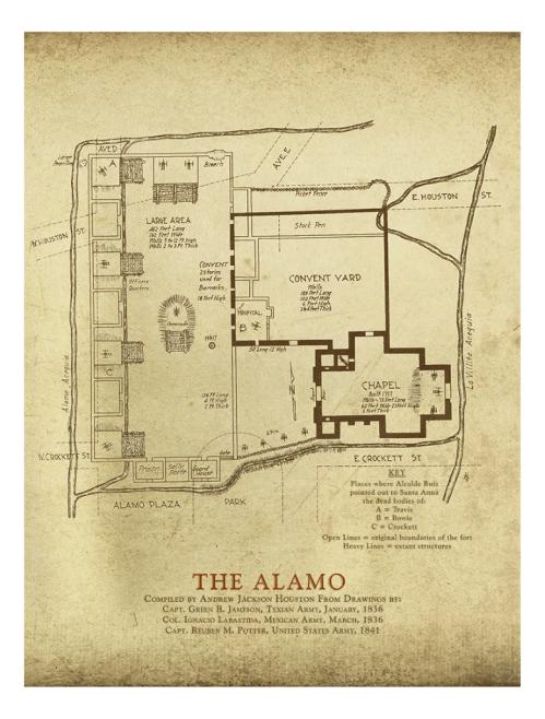small resolution of diagram of the alamo wiring diagram data val a j houston s alamo plaza map copano bay press