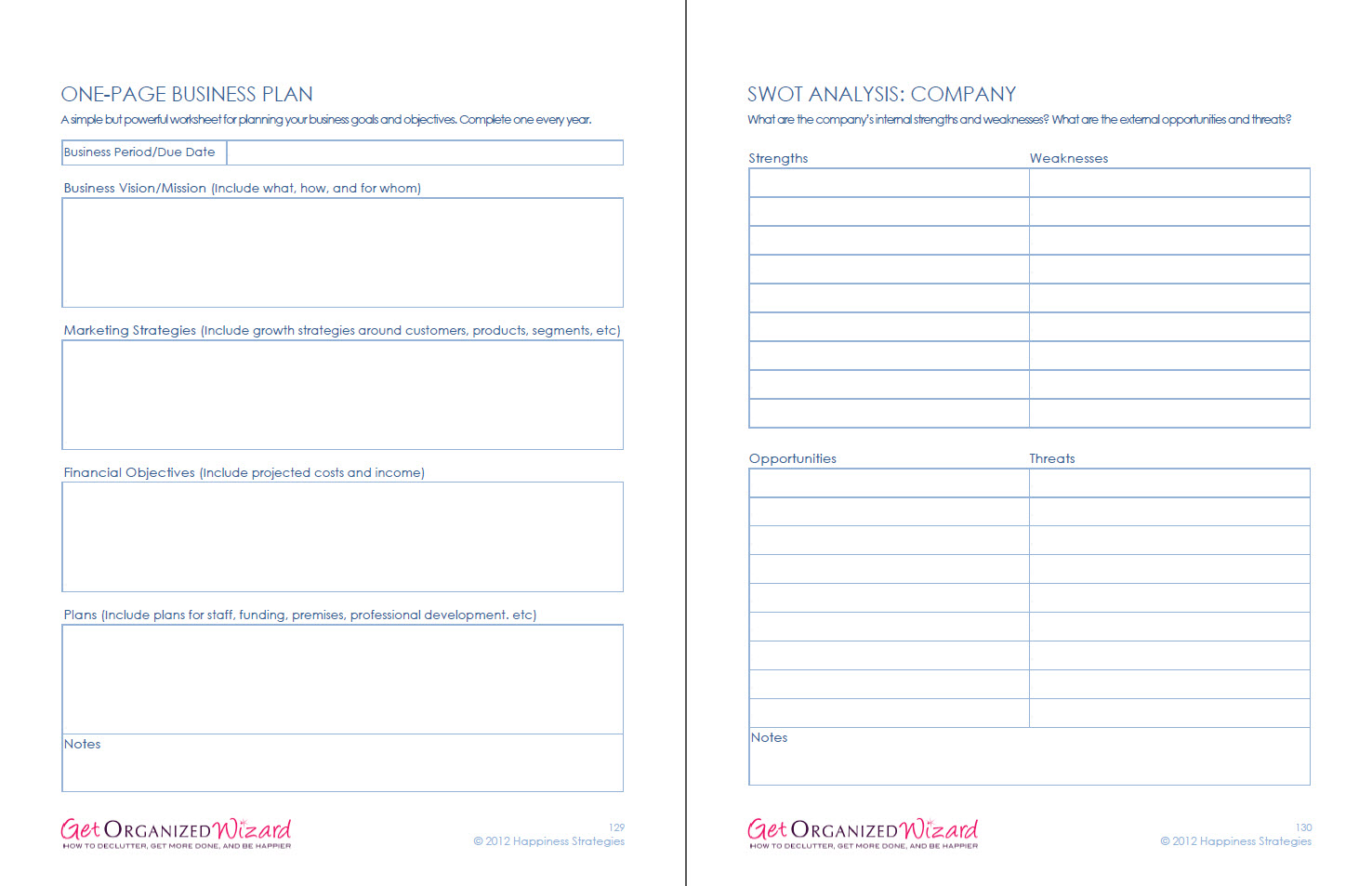 Business Amp Marketing Worksheets