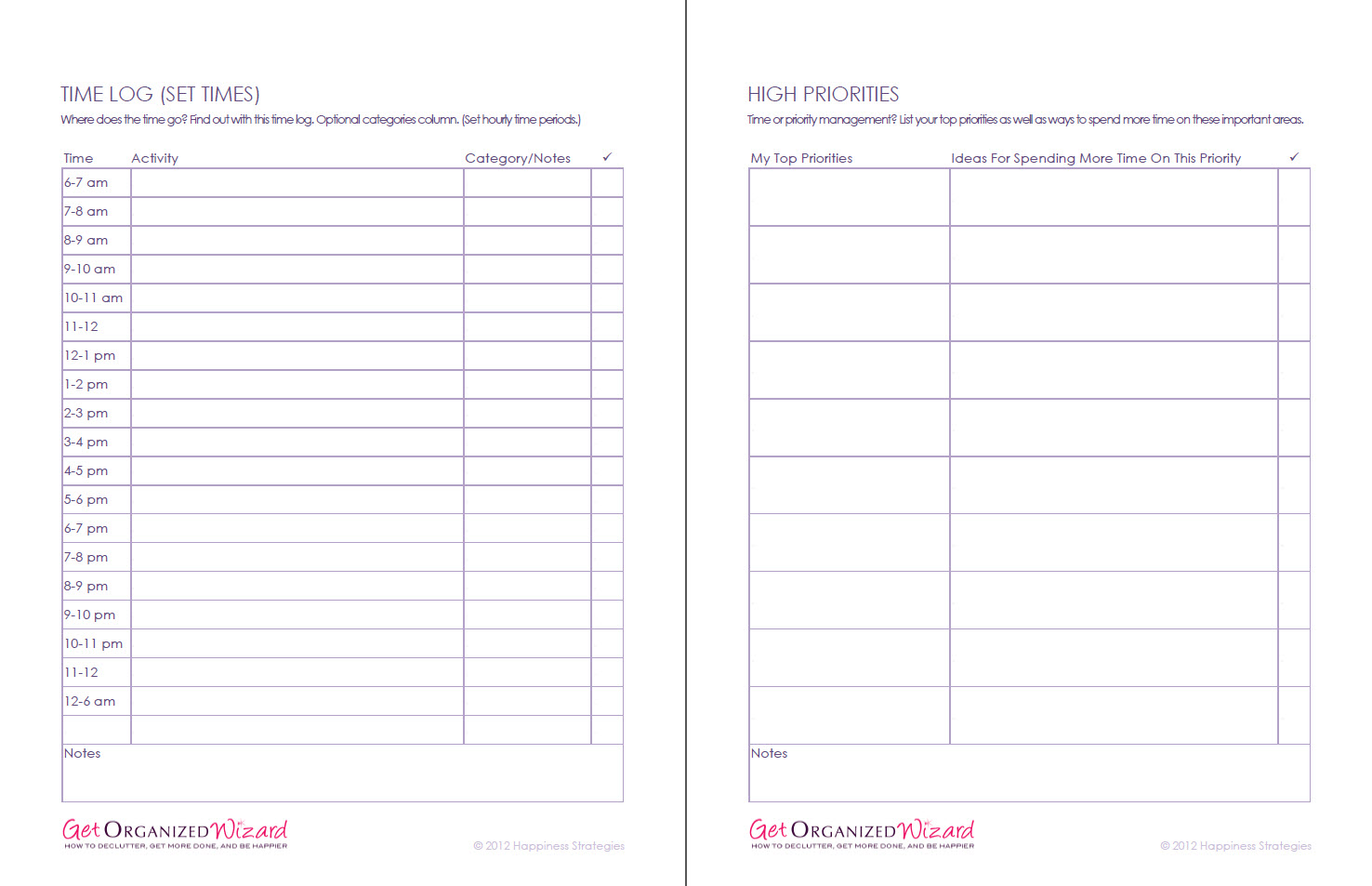 Week Worksheet Printable Time Management
