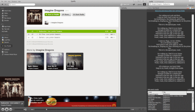 Lyrify testi per Spotify