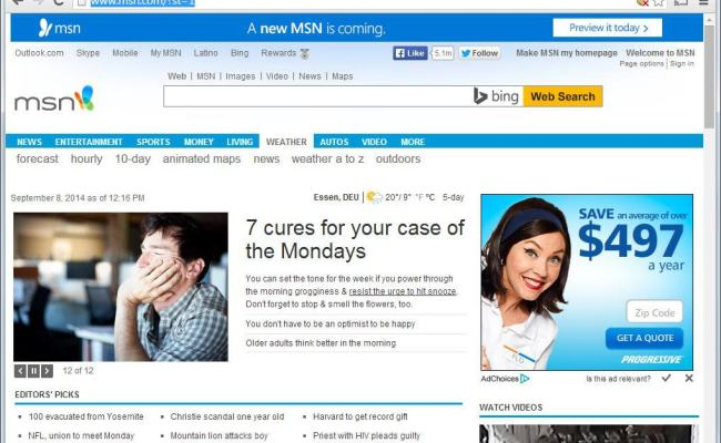 This Is What The New Msn Homepage Looks Like Ghacks Tech