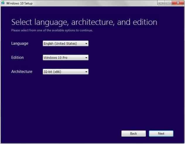 windows 10 language edition architecture