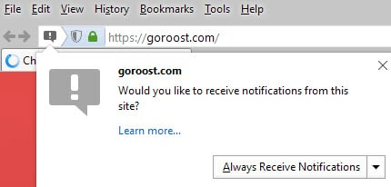 firefox push notifications
