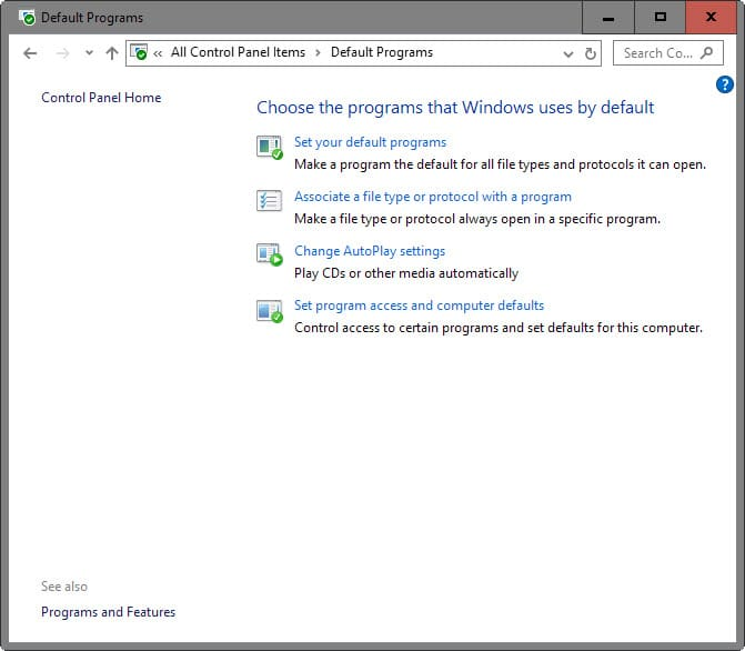 Cara Setting Program default pada Windows 10