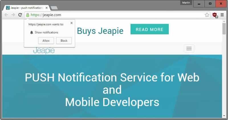 Cara Nonaktifkan show notifications di Google Chrome