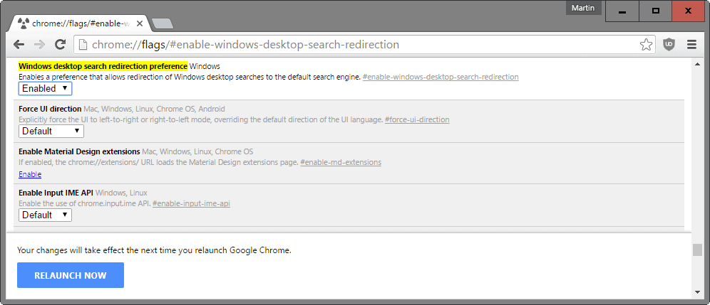 Cara Setting Search Engine default pada Windows 10