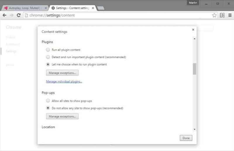Cara mengstop video auto Play di Browser
