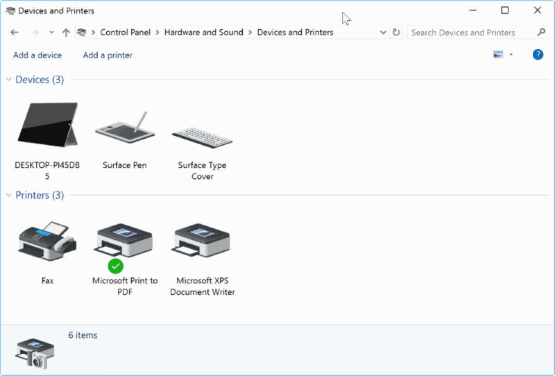 Cara menghilangkan Microsoft XPS Document Writer printer