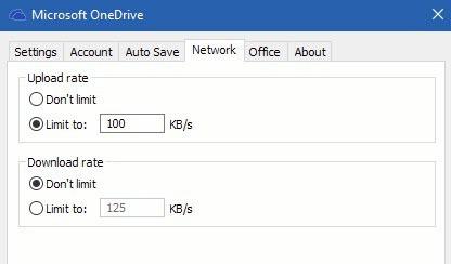 Cara Membatasi kecepatan transfer onedrive pada Windows 10