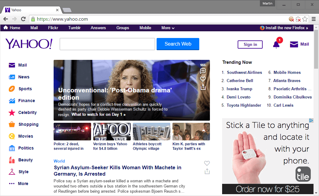 Verizon new Yahoo owner - gHacks Tech News