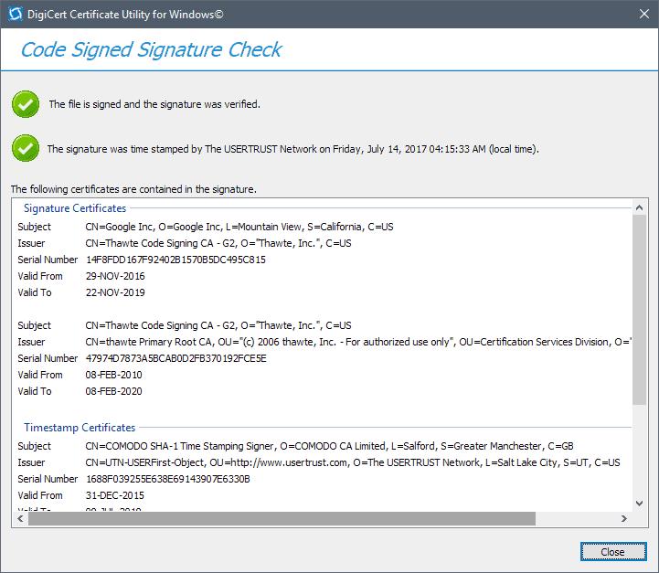 проверка подписей подписи кода