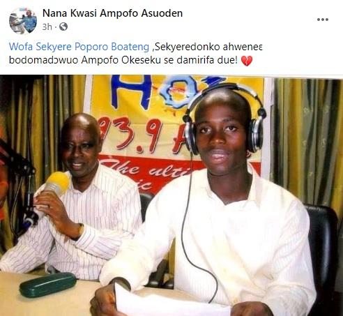 Popular Akan newscaster Sekyere Poporo Boateng is dead 2