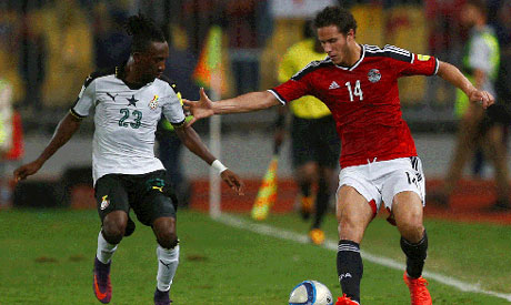 Image result for Ghana held 1-1 by Egypt in final World Cup qualifier