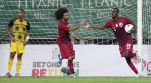 Alexander Djiku reacts after Qatar canceled Ghana's lead in the first half