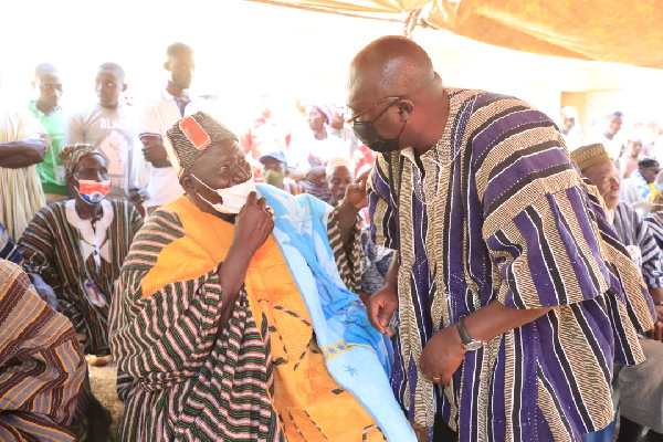 You're not like the others who only visit for votes - Chief hails Bawumia