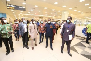 Parliamentary Select Committee on Health during their inspection at the Airport