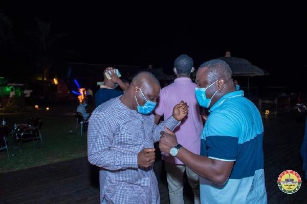 Photos: MPs defy Akufo-Addo's directive to organise a party at Aqua Safari 11