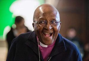 A photo of retired archbishop Desmond Tutu