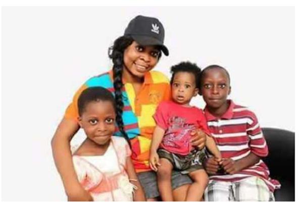 Former HIV/AIDS ambassador, Joyce Dzidzor Mensah and her kids