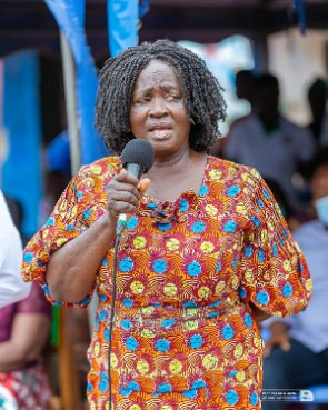 Professor Naana Jane Opoku- Agyemang, the Vice Presidential candidate of the National Democratic Con