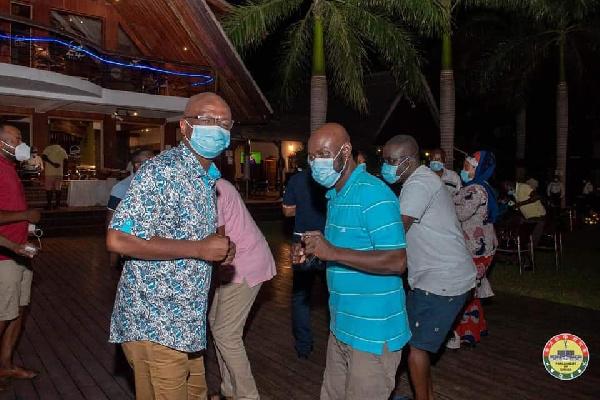 Photos: MPs defy Akufo-Addo's directive to organise a party at Aqua Safari 4