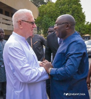 Reverend Father Andrew Campbell and Vice President Dr Mahamudu Bawumia