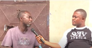 The taxi driver, Kwesi Owusu, in an interview with DJ Nyaami