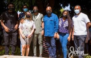 Former President John Dramani Mahama and his family