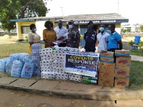 CHRI presented Personal Protective Equipment to some Police Stations in Accra and Kumasi