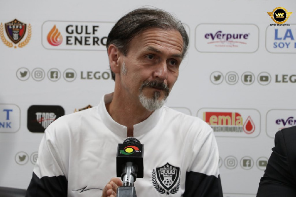 Legon Cities announce sacking of head coach Goran Barjaktarevic