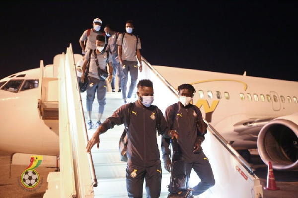 Black Stars land in Sudan ahead of 2021 AFCON qualifier