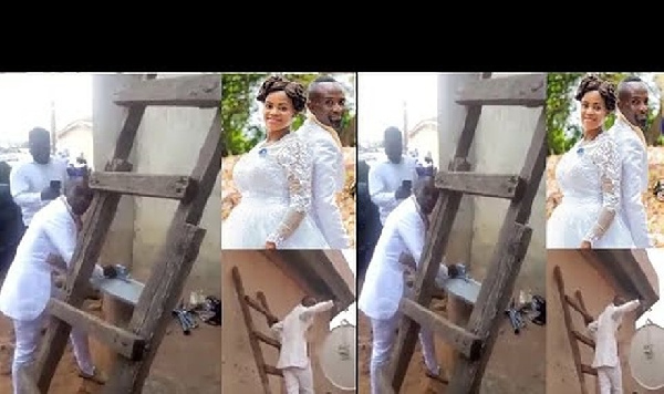 Mr. Effum-Atteh left his wife in the church to fix DSTV for a client on the wedding day