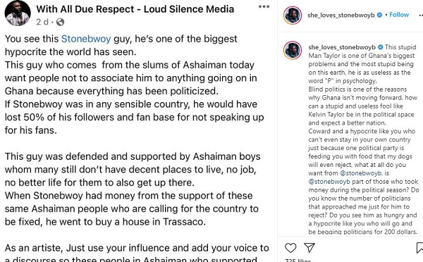 Your Wife And Child Will Be Shot In The Head - Kelvin Taylor To Stonebwoy