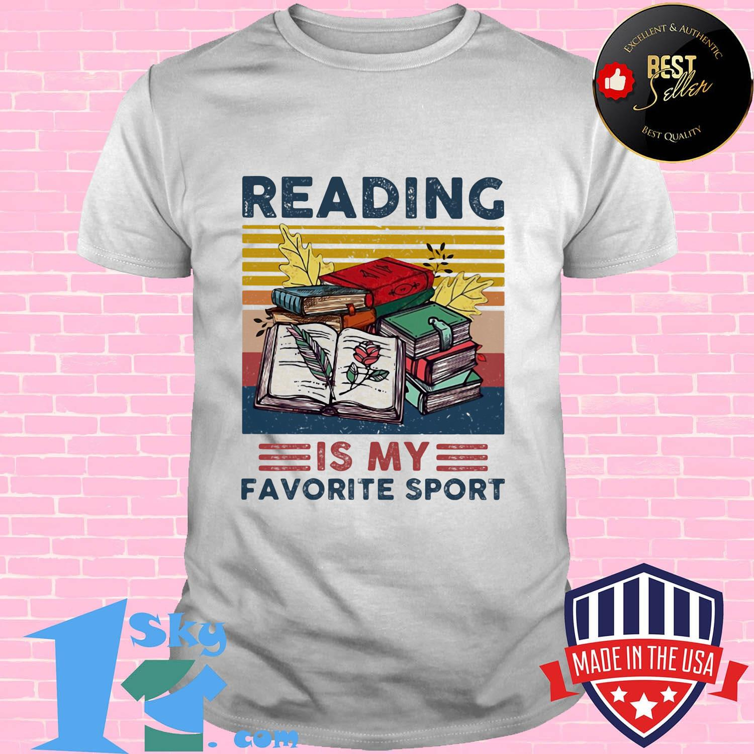 Official Reading Is My Favorite Sport Vintage Retro Shirt