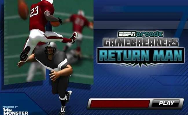 Espn Return Man Online Free Game Gamehouse