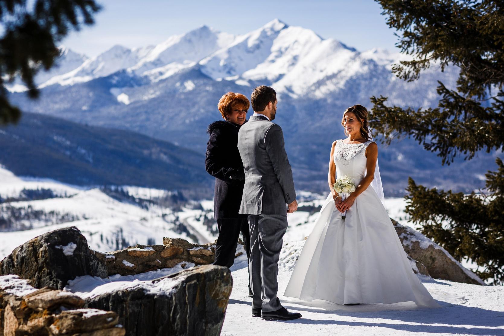 Kyle  Nickies Breckenridge Elopement Wedding  Top