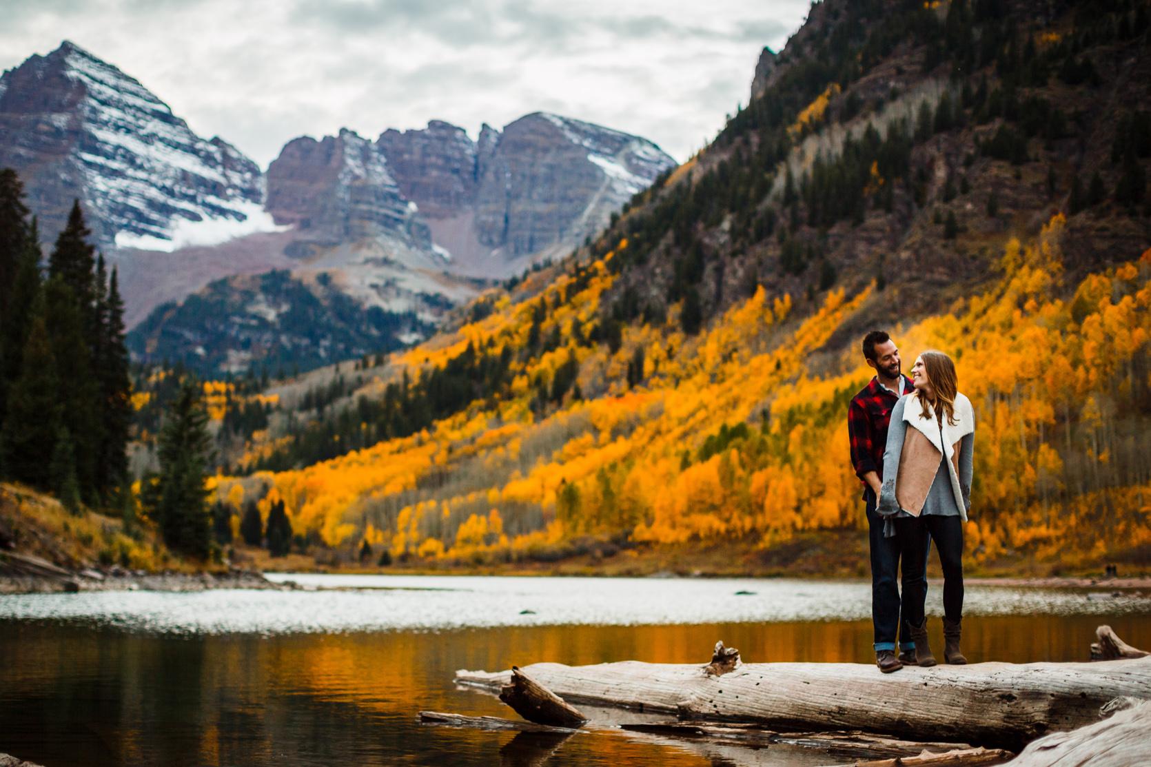 Blake  Amandas Maroon Bells Engagement  Top Colorado Mountain Wedding Photographers