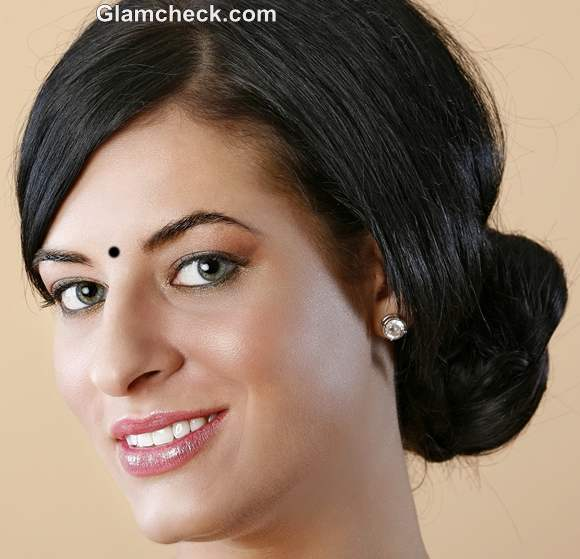 Indian Hairstyle How To Braided Side Bun
