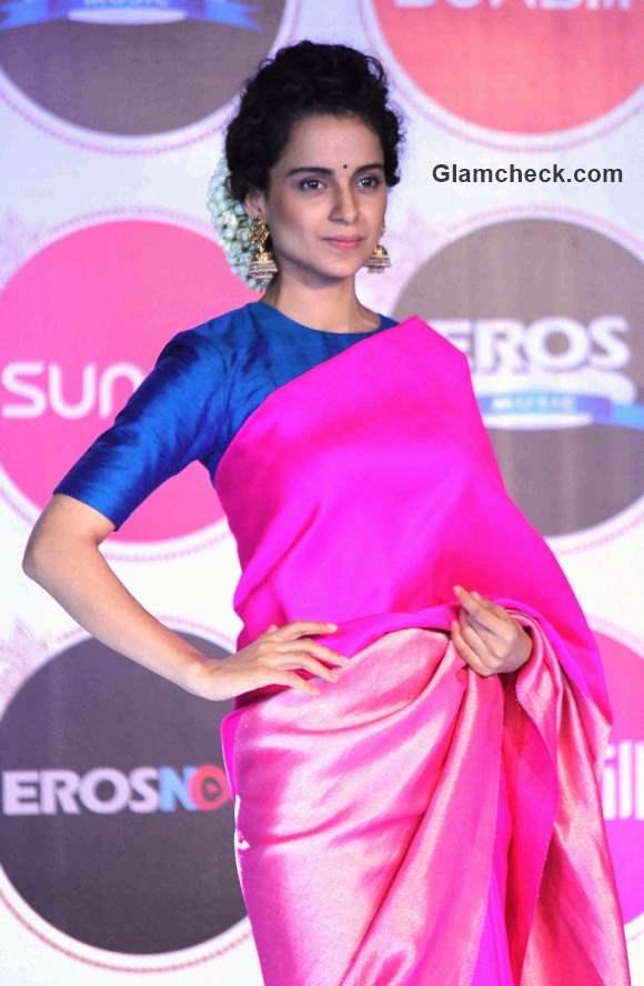 Kangana Ranaut Steals The Show In A Pink Saree
