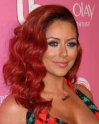 Aubrey O'Day Sports Sassy Red Hair
