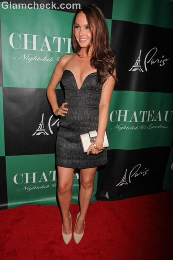 Camilla Luddington Dons Risque Low Cut Dress At Vegas Party